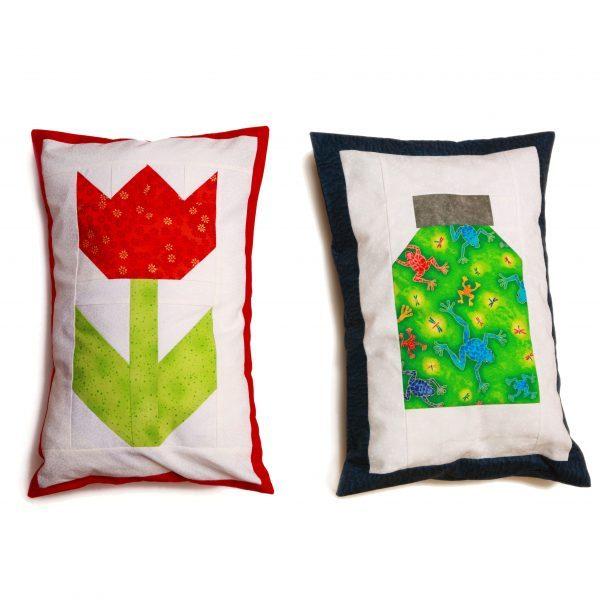 kid quilt project, tulip quilt block, jar quilt block