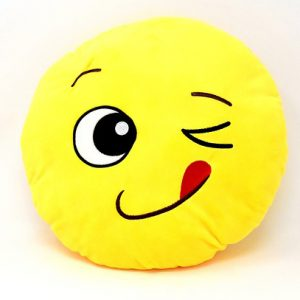 emoji pillow; sewing birthday party; easy sewing projects