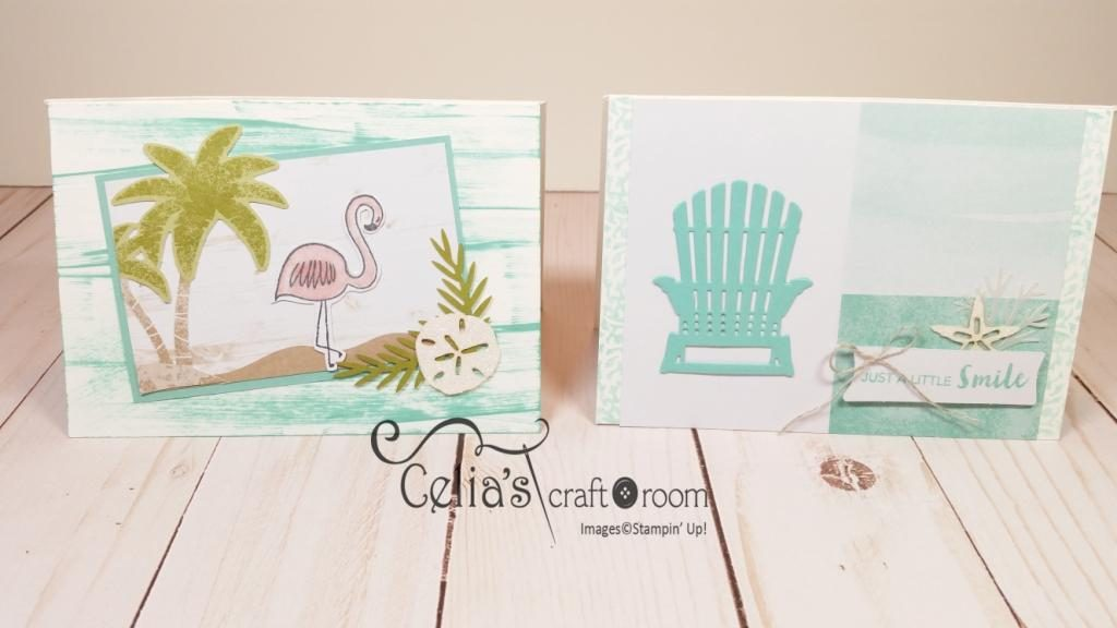 Colorful season Stampin Up, Adirondack Chair thinlet die