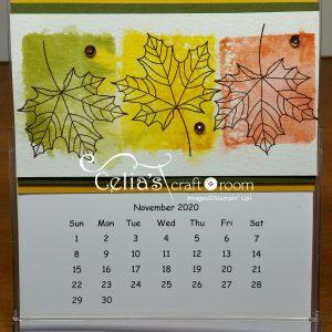 November cd case calendar class