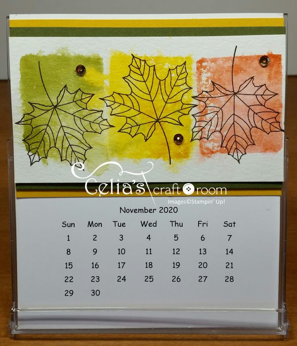 November cd case calendar class