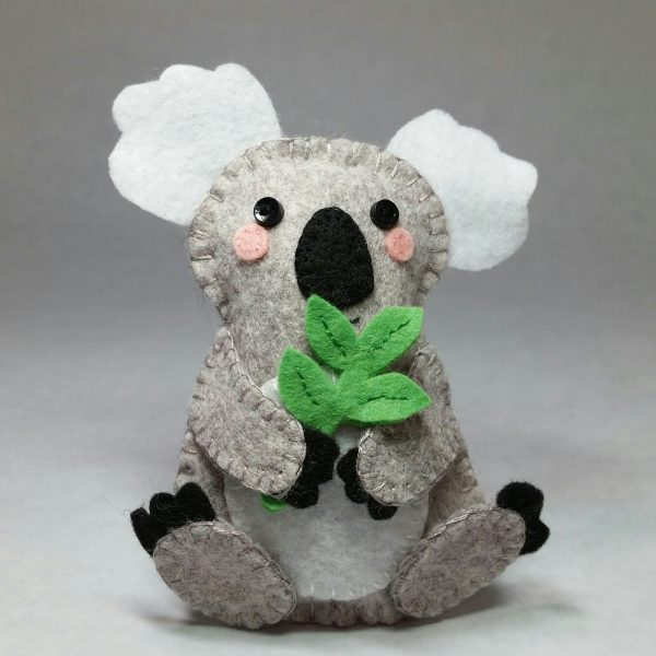 Koala Stuffie, Hand Embroidery for Kids, Hand Stitching for kids