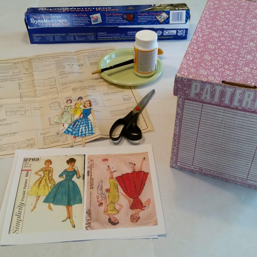 vintage pattern box, Decoupage, pattern box