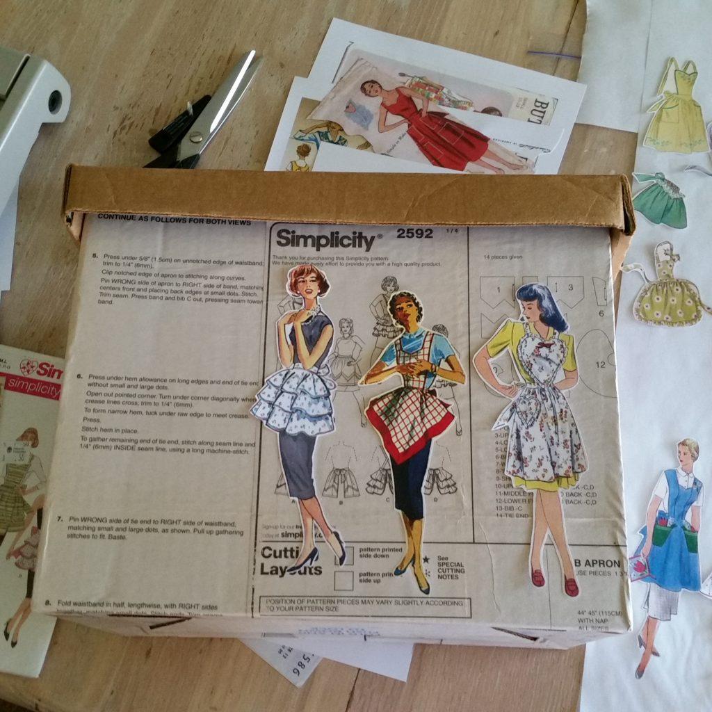 vintage apron patterns, Decoupage, pattern box