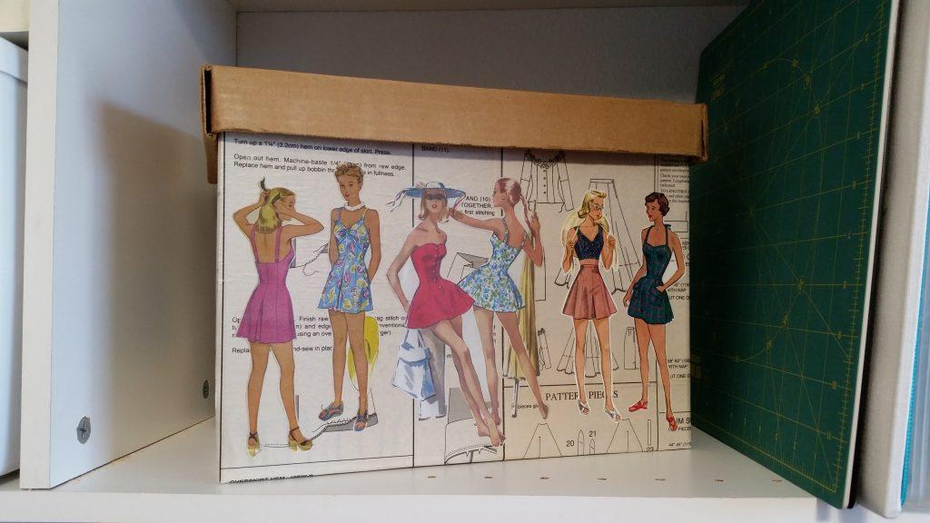 vintage swim suit patterns, Decoupage, mod podge, pattern box