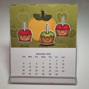CD Calendar Class, Candy Apple Stamp Set